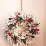 クリスマスの飾り付け2019白いリースがお気に入り!